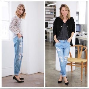 Anine Bing distressed boyfriend jeans